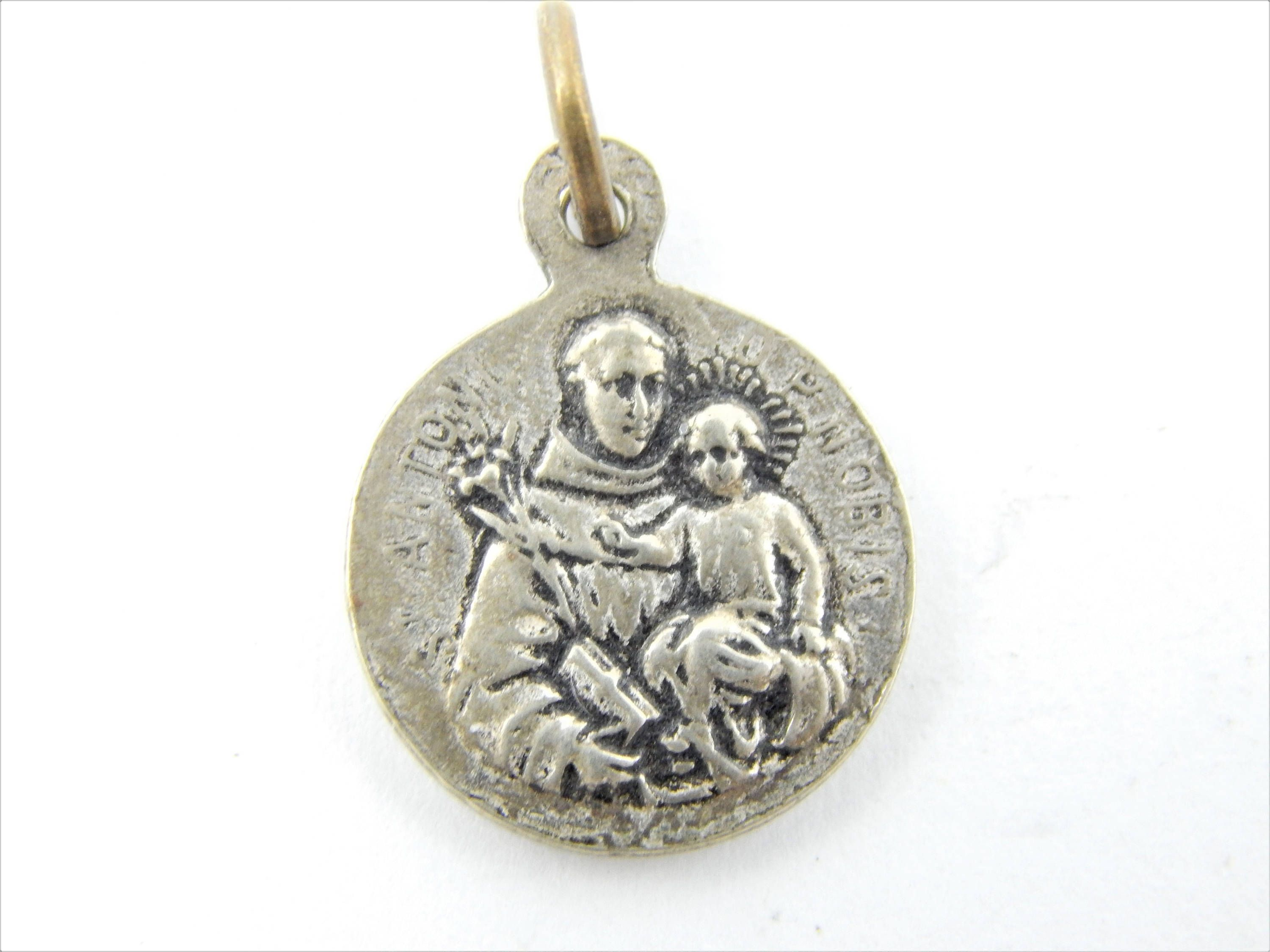 antique christopher pendant fullxfull medal listing medallion gjio il catholic st gold