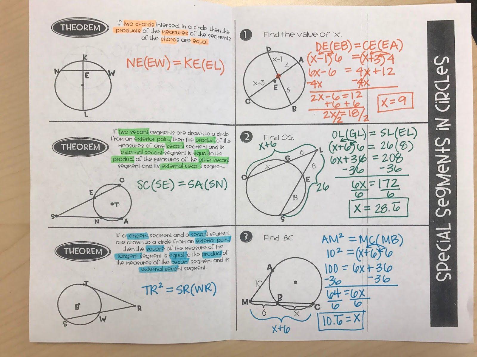 Segments In Circles