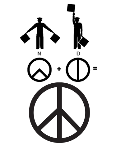 The Universal Symbol Of Peace Ca 1958 Designed By Gerald Holtom