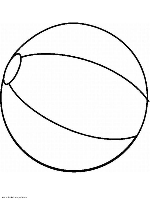 Tekening Van Een Strandbal De Kindjes Kunnen Deze Zelf