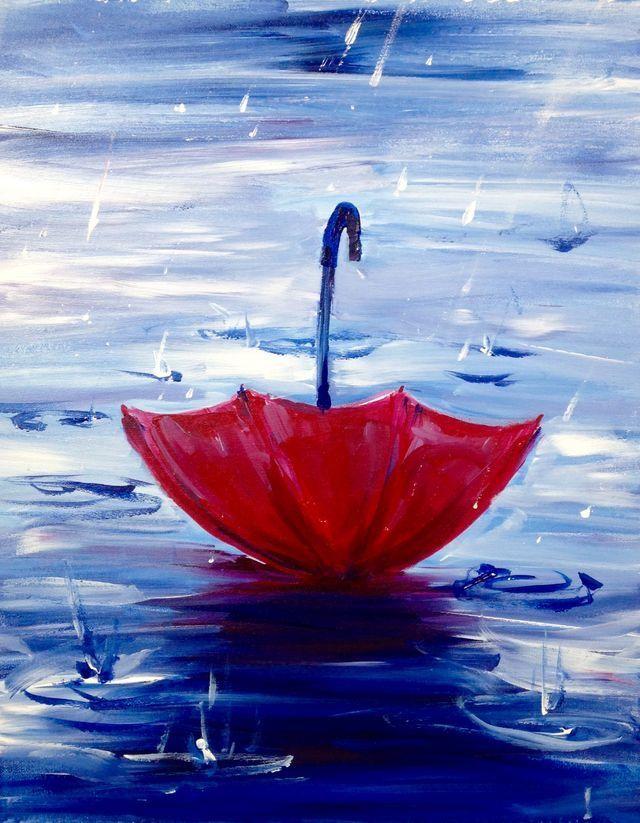 down red umbrella