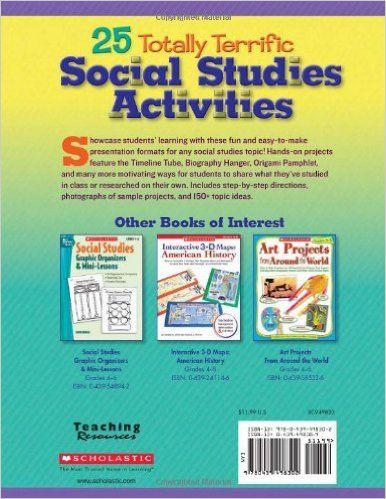 AmazonCom  Totally Terrific Social Studies Activities StepBy