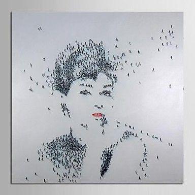 moderne oliemaleri håndmalet lærred kunst folk Audrey Hepburn kunst med strakte ramme museum kvalitet mesterværk – DKK kr. 679