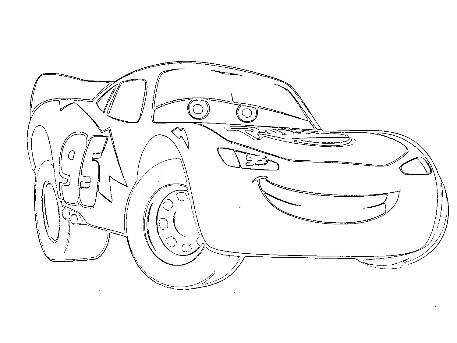 Coloring derby cars - Printable Lightning Mcqueen Coloring Pages Free Large Images