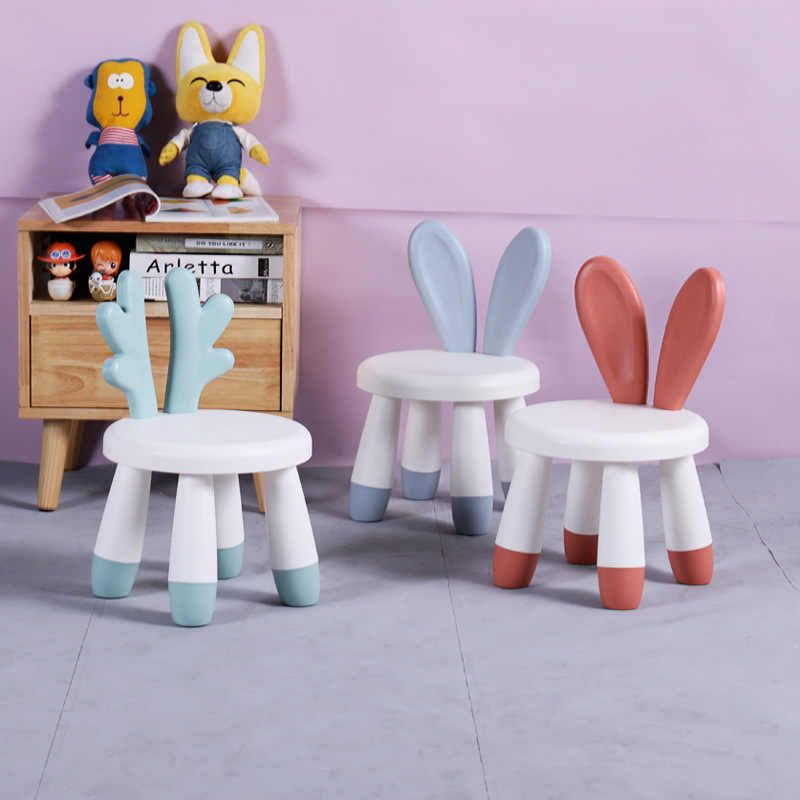 Children S Chairs Baby Cute Cartoon Bench Household Rabbit Chair Backrest Chair Plastic Stool Kids Chair For Kids Furniture Aliexpress In 2020 Kids Chairs Kids Furniture Design Childrens Chairs