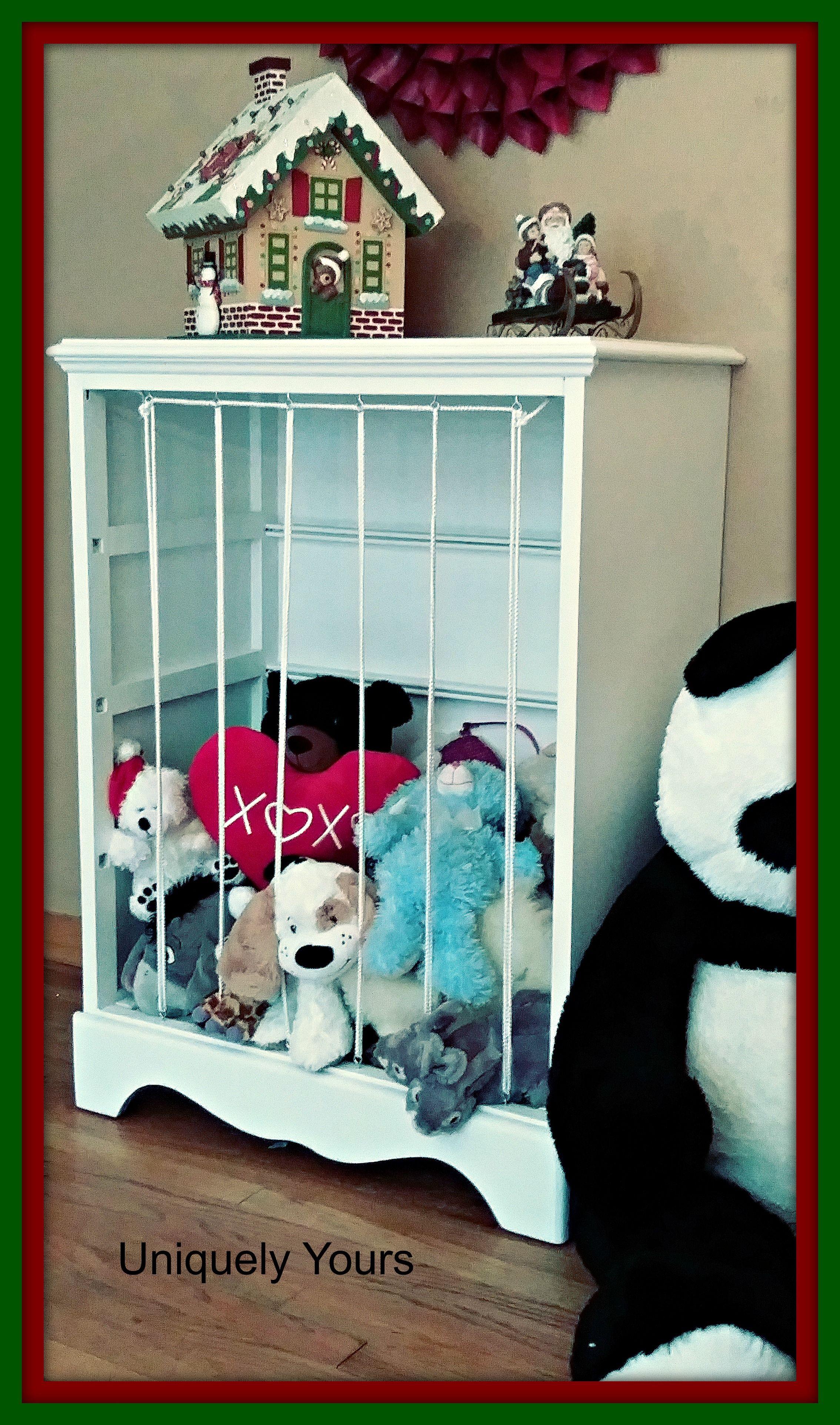 Repurposed Dresser Made Into A Stuffed Animal Storage Cabinet Zoo Stuffed Animal Storage Stuffed Animal Storage Diy Diy Toy Storage