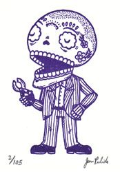 Curly Calavera Gocco Aceo Print Pattern Coloring Pages Screen Printing Coloring Pages