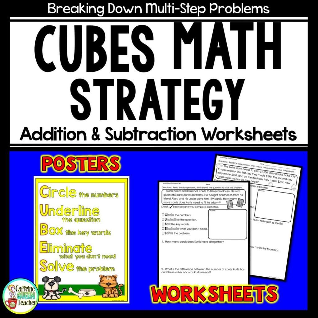 Promote Student Independence For Word Problems With Cubes