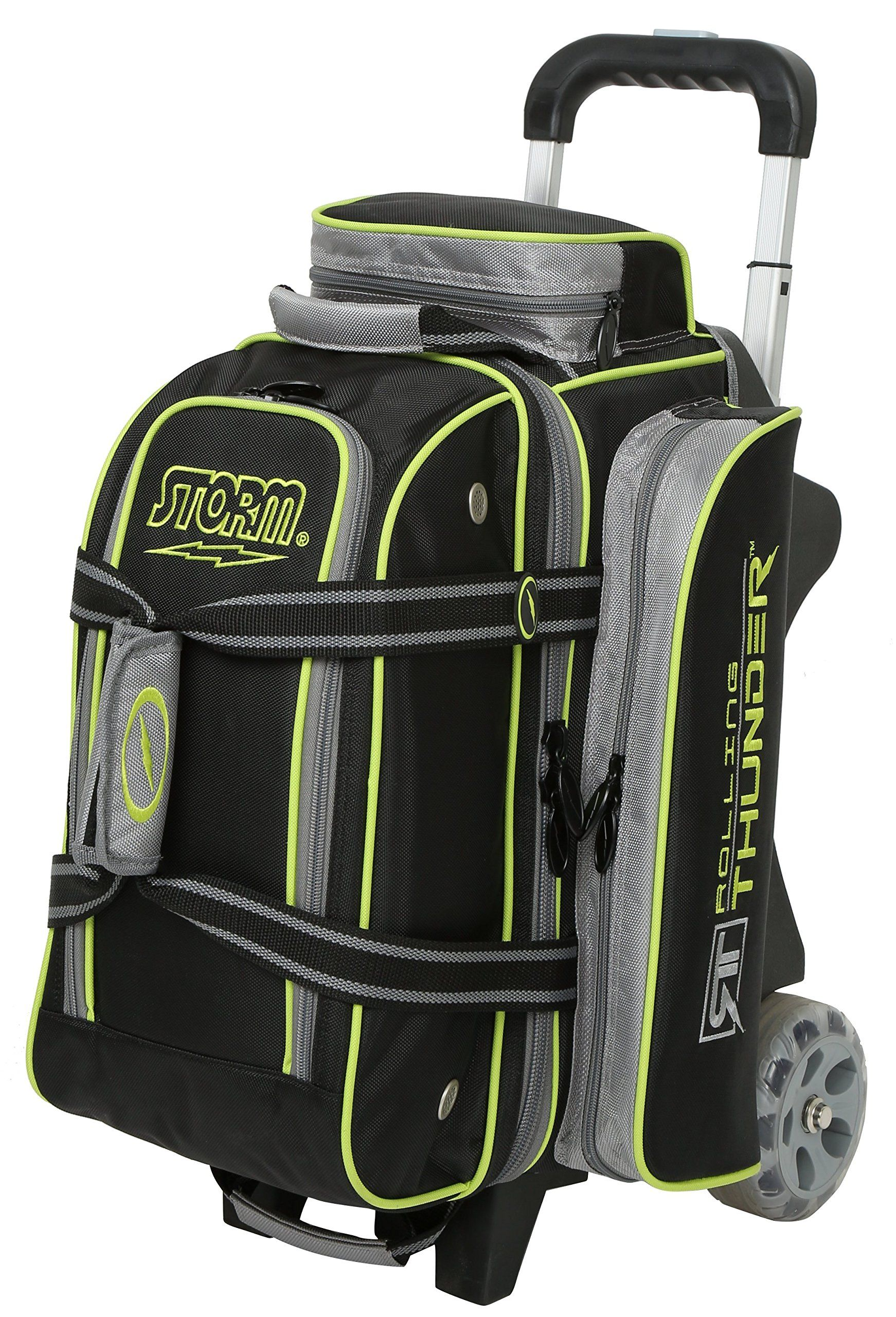 Storm Bowling Products 2 Ball Rolling Thunder Bowling Bag Black Gray Lime Read More Reviews Of The Produ In 2020 Storm Bowling Bowling Bags Bowling Shoes