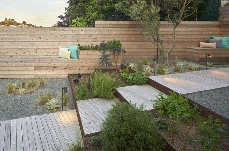 Modernes Treppen Design Mit Holz Und Edelrost Outdoors