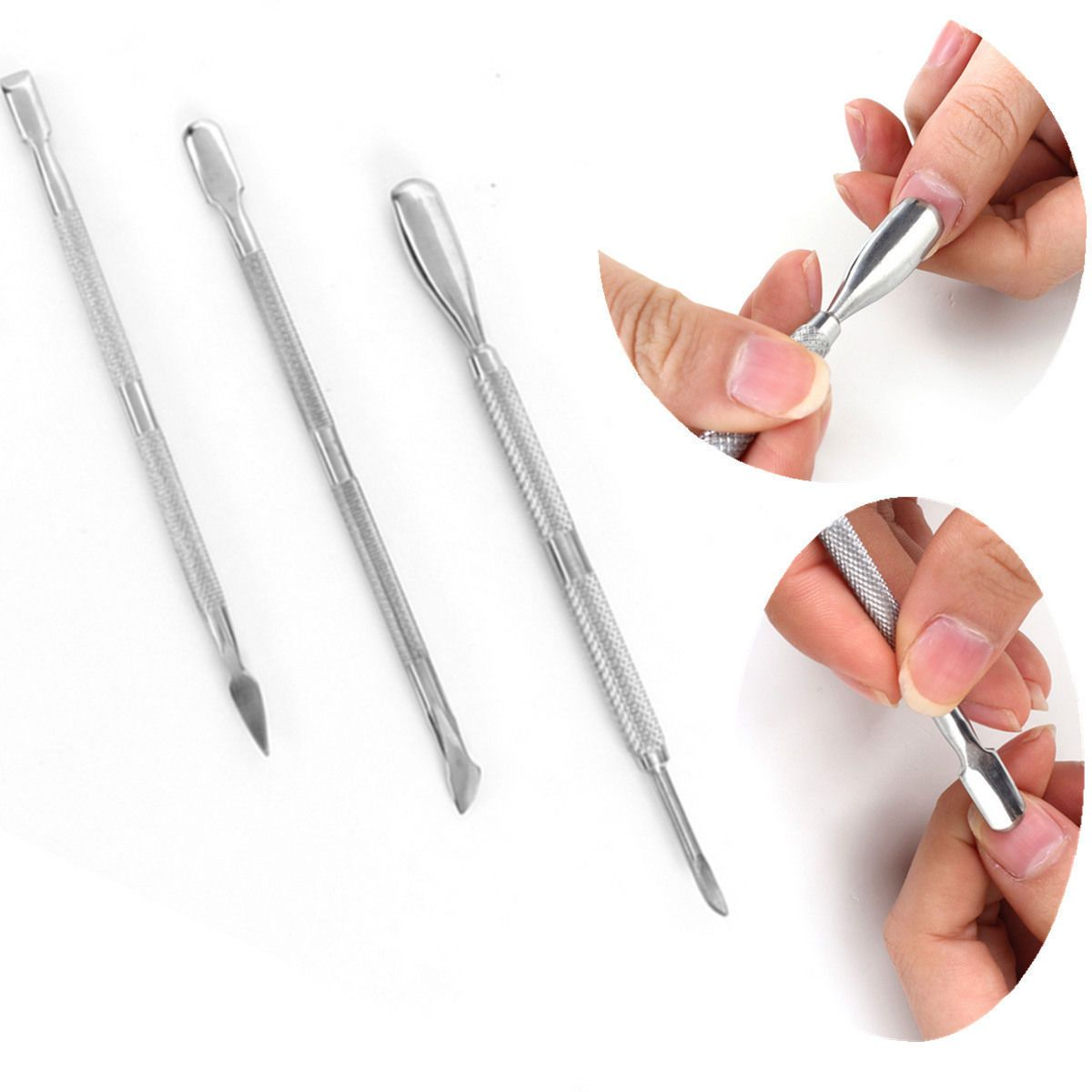 Awesome 3Pcs Nail Art Stainless Steel Cuticle Spoon Remover Pusher Manicure Pedicure Set Check More At