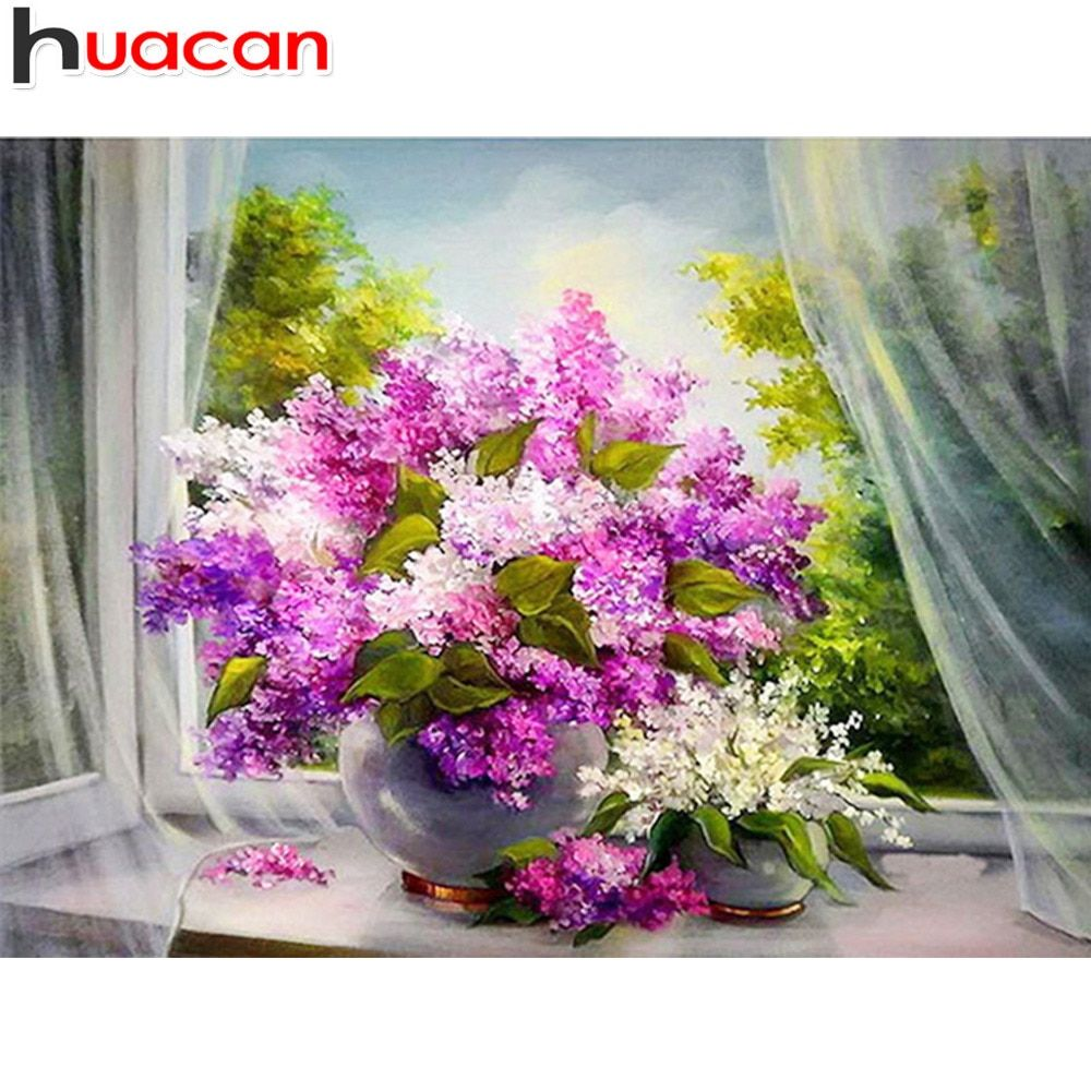 5D Diamond Embroidery Painting Flower Retro Art Cross Stitch Home Decor Craft uk