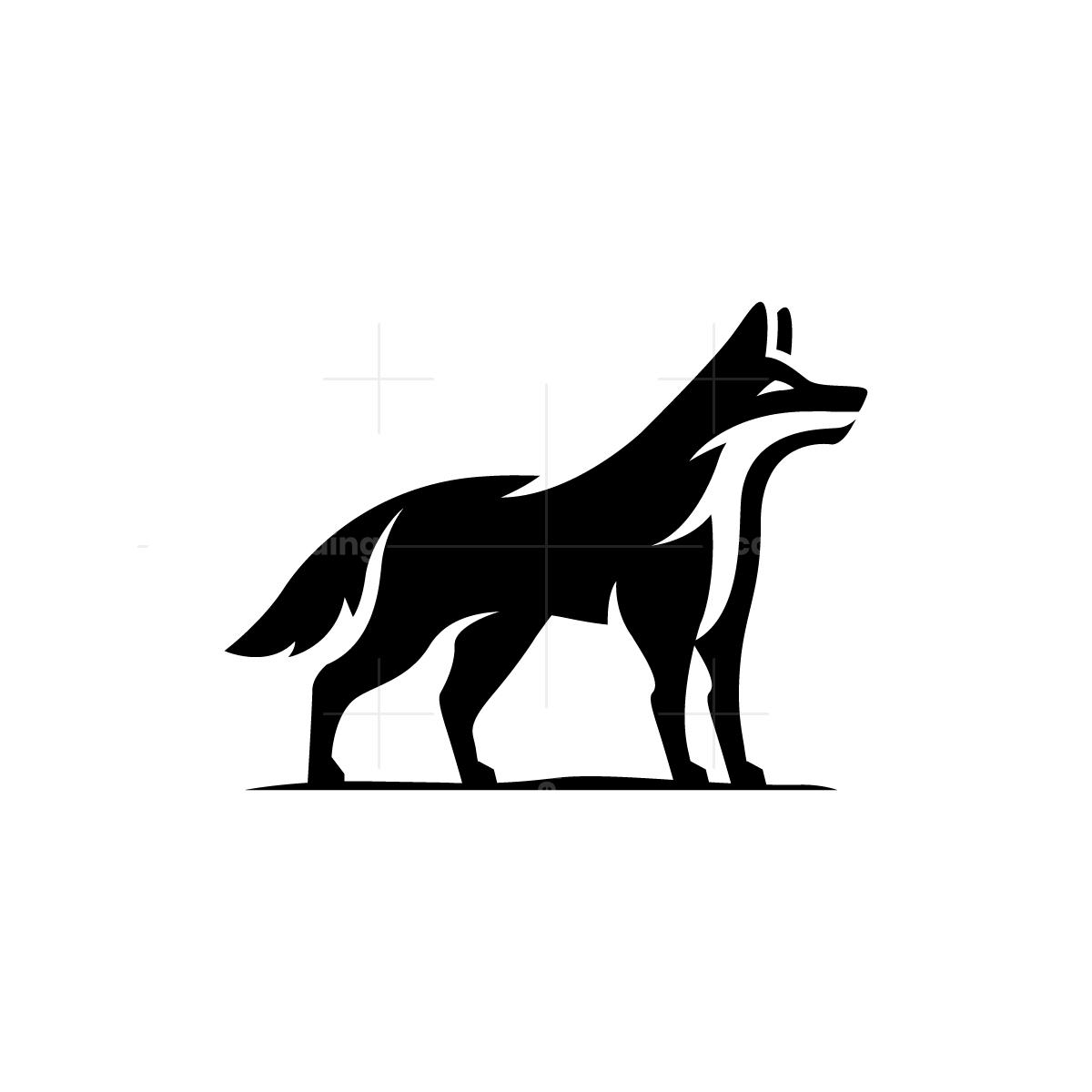 Black Wolf Logo Black Wolf Animal Logo Bull Logo