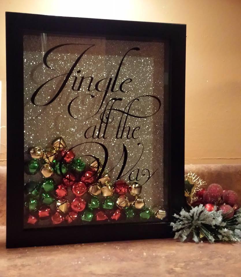 jingle all the way shadow box christmas christmas. Black Bedroom Furniture Sets. Home Design Ideas