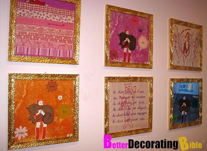 DIY Bohemian Decorating   DIY: Frame Your Silk Scarves    BetterDecoratingBible