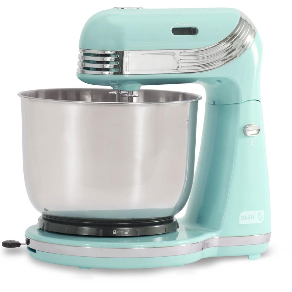 Dash everyday 3qt stand mixer aqua blue mixer