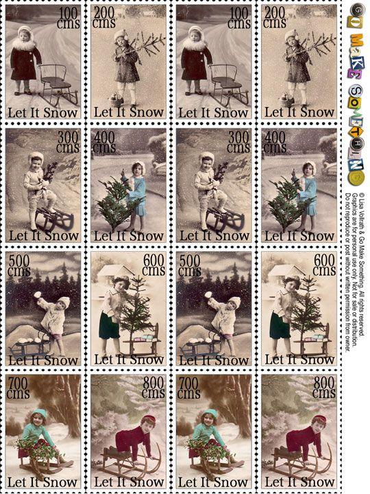 Go Make Something » Christmas stamps