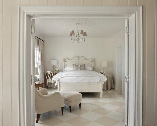 Cozy White Beadboard Bedroom Furniture And Beige Traditional With The Checkered Floor Chandelier Casual Bead Board Ceiling Ramhg Bed