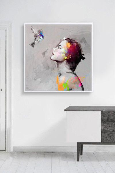 bilder auf leinwand bird 100x100 cm vintage leinwanddruck günstig selbst bedrucken
