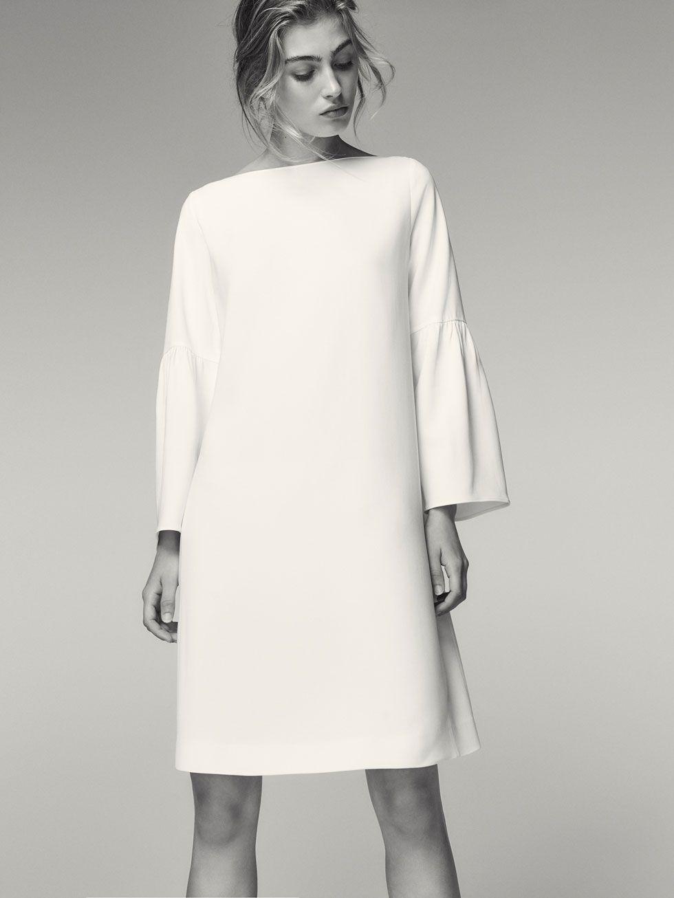 Massimo dutti mujer vestidos blancos