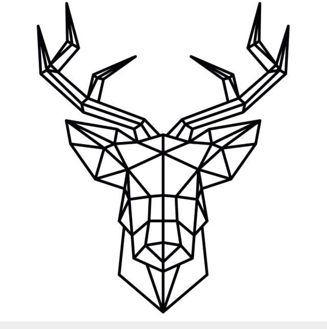Geometric Deer Head Decoración Pinterest Dibujo Animales