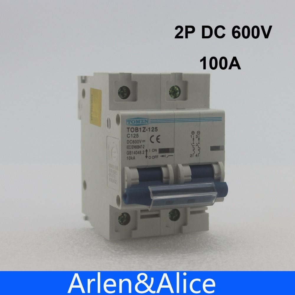 2p 100a Dc 600v Circuit Breaker For Pv System C Curve With Images Pv System Circuit