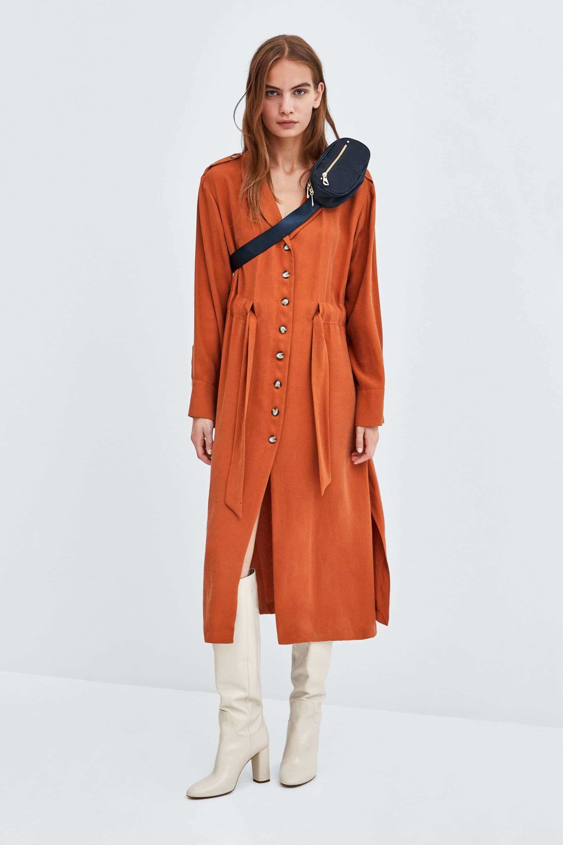 Image 1 Of Flowy Shirt Dress From Zara D R E S S M E In 2018