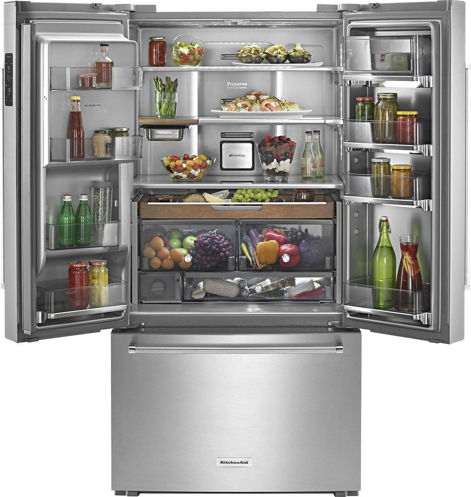 Kitchenaid 238 Cu Ft French Door Counter Depth Refrigerator