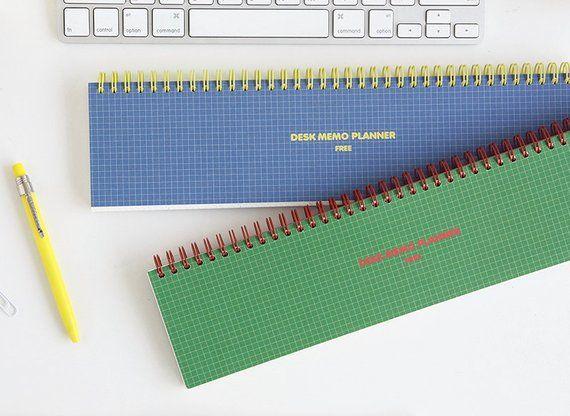 Grid Notebook [ Blue, Green ] / Weekly Planner / Planner