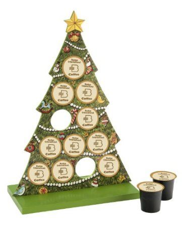 Amazon Com October Hill K Cup Holder Christmas Tree Home Kitchen Pretty Sure I Need This K Cup Holders Coffee Pods Christmas Coffee Pods Gift