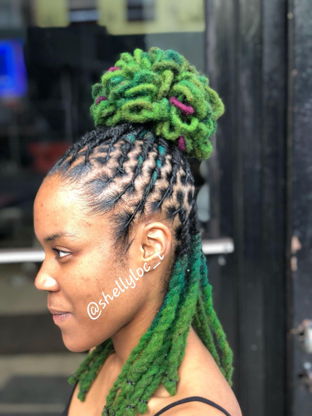 Colored Locs Drea M Locs 2 In 2019 Hair Styles Dread