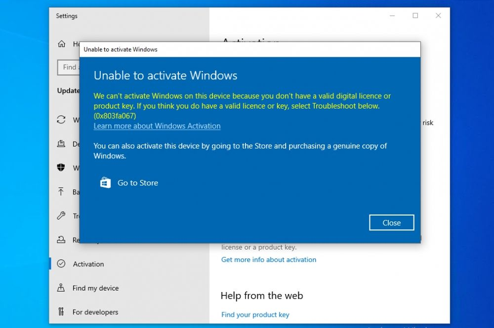 We Can't Activate Windows on this Device error Fix