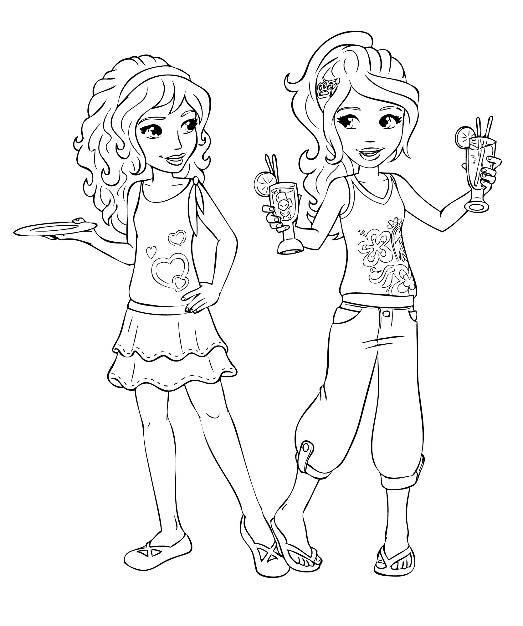 lego friends coloring pages tagged with best friends coloring pages - Friendship Coloring Pages
