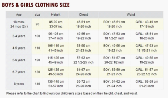 Sewing dimensions for children s clothes google search sewing