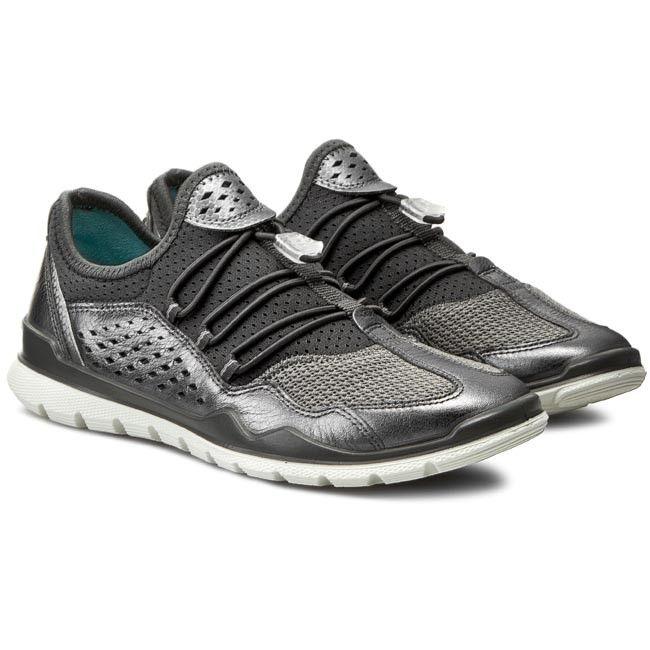 Buty Ecco Lynx 83041359528 Dark Shadow Metallic Titanium Metal Shoes Titanium