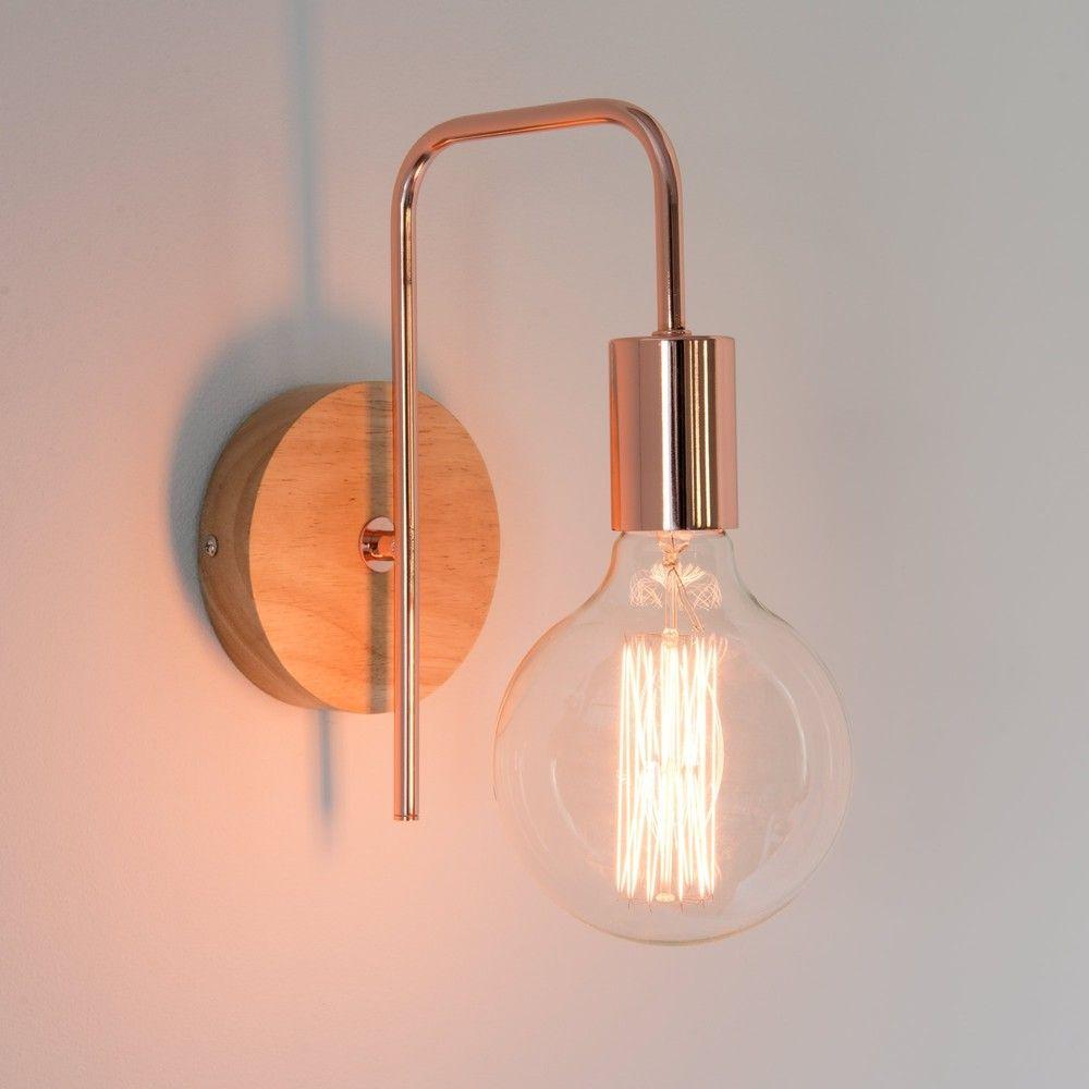 applique indus en métal cuivré | luminaires | pinterest | maison
