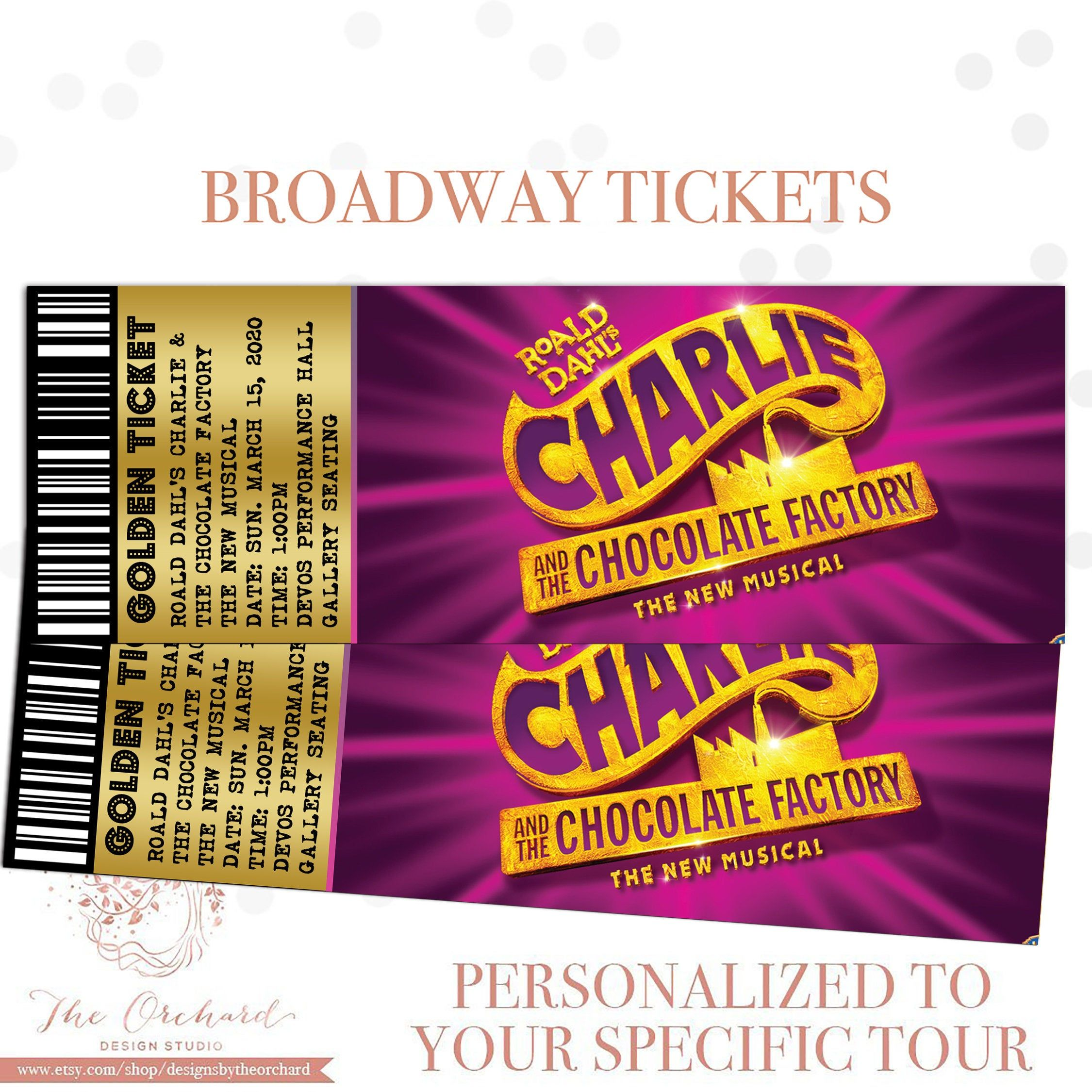Custom Broadway Tickets You Print Broadway Musical Theatre