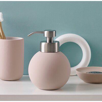 Wrought Studio Eder Soap Dispenser Color Pink Soap Dispenser Diy Soap Dispenser Bathroom Soap Dispenser