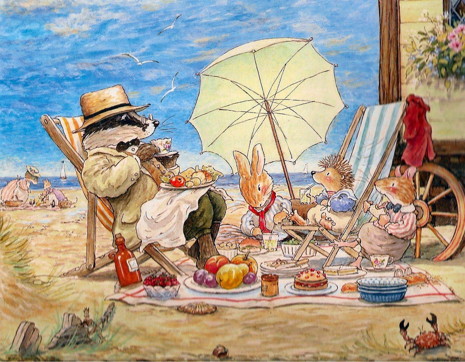 A day at the beach - Foxwood Tales by Cynthia and Brian Paterson