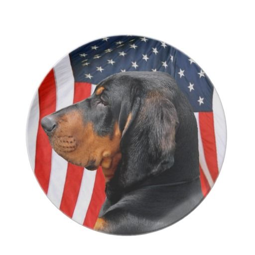 Black and Tan Coonhound Plate