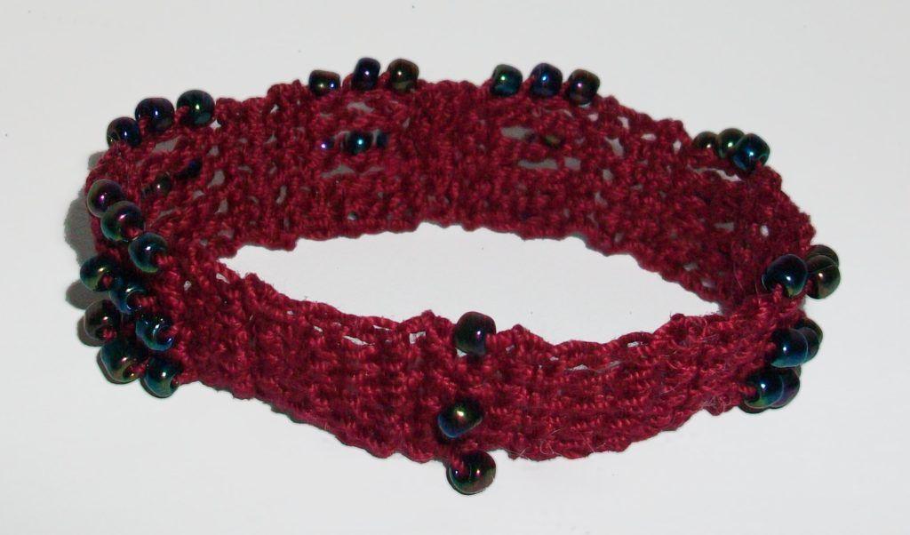 Crochetmarlenabracelet Free Pattern For Beaded Cuff Crocheted