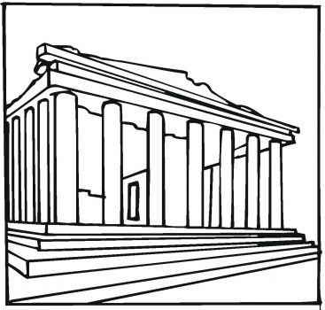 find this pin and more on coloring architecture stractutes parthenon greece coloring page