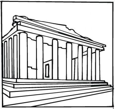 Parthenon Greece Greece Drawing Parthenon Greece Ancient