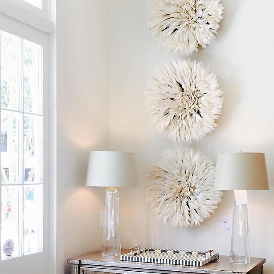 Beautiful Feathered Juju Hats As Wall Art Thefrenchmix