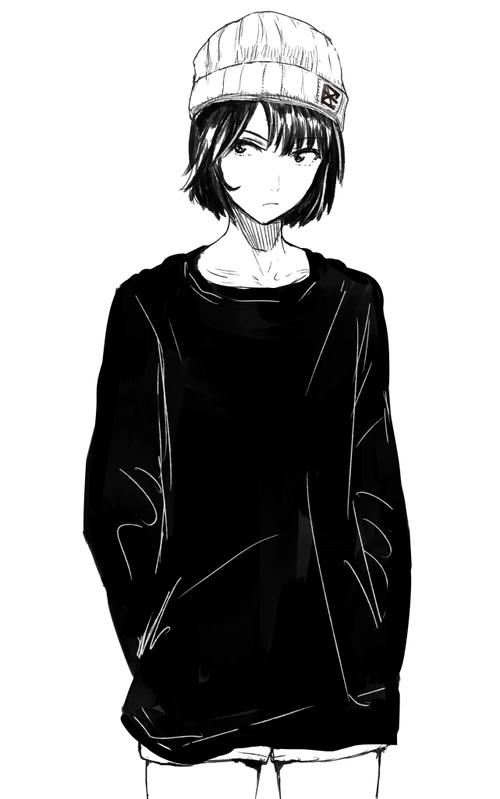 Imagen De Manga And Monochrome Anime Monochrome Tomboy Art Anime Art Girl