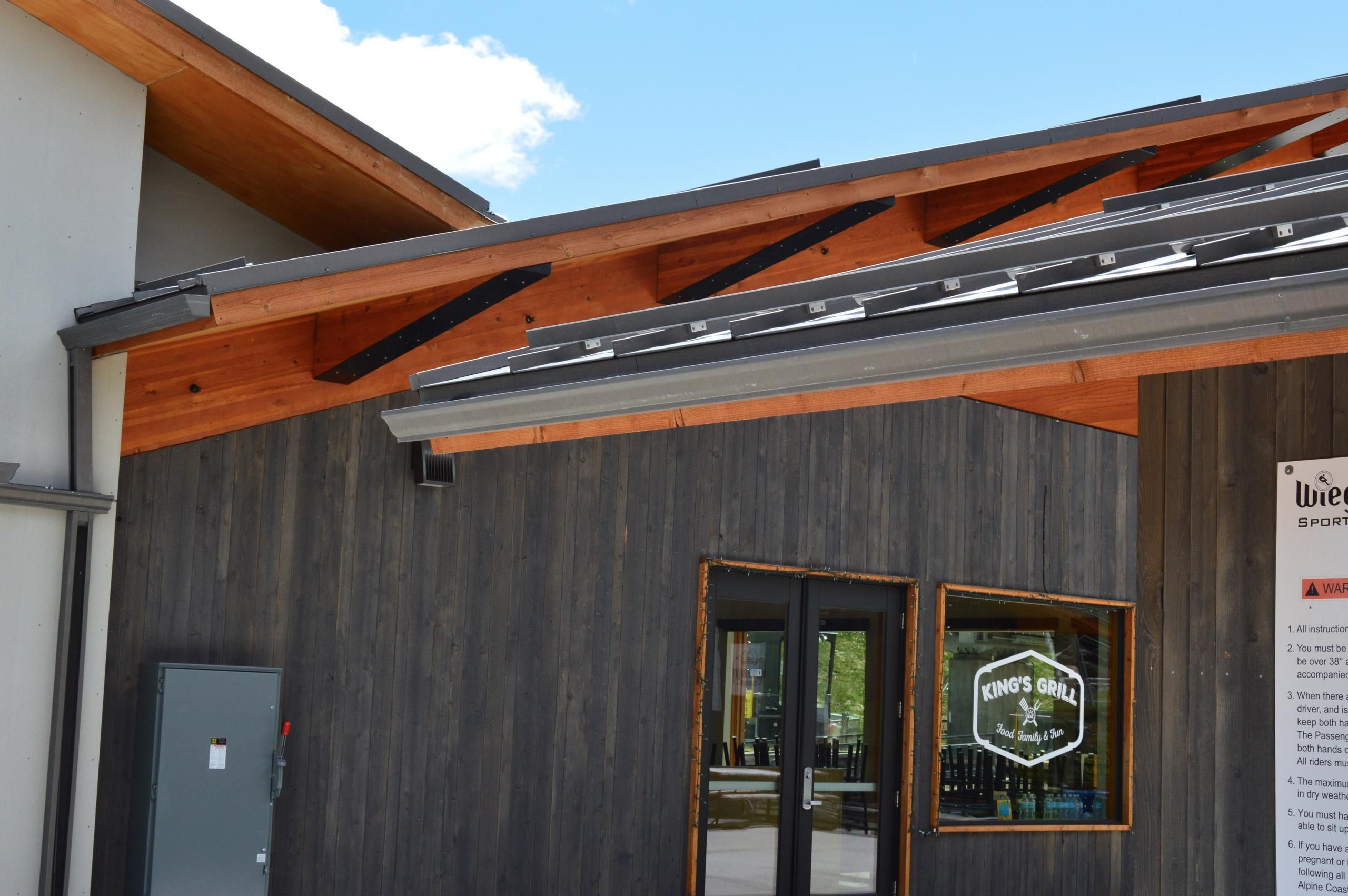 Bonderized Metal Roofing With Trim And Gutter Detail Commercial Metal Roofing Standing Seam Metal Roof Gutters