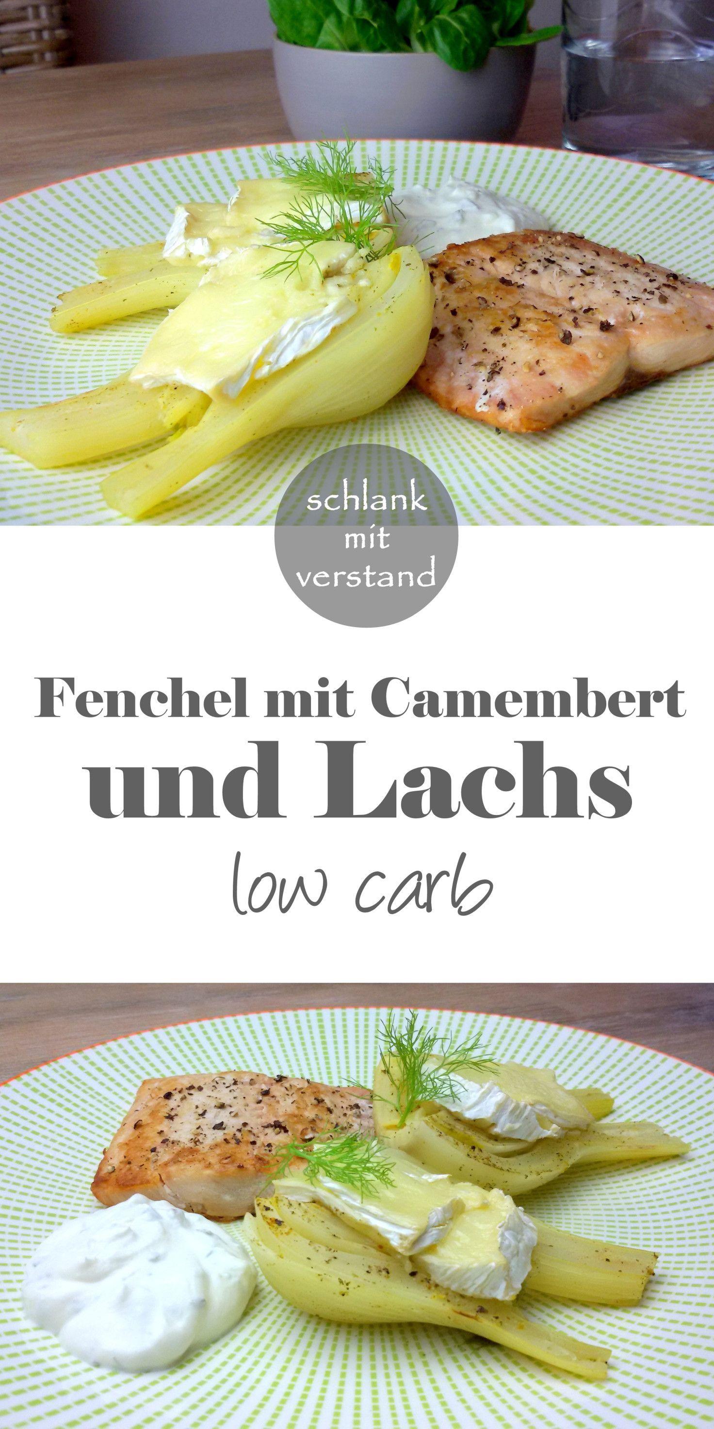Fenchel mit Camembert und Lachs low carb #lowcarbveggies