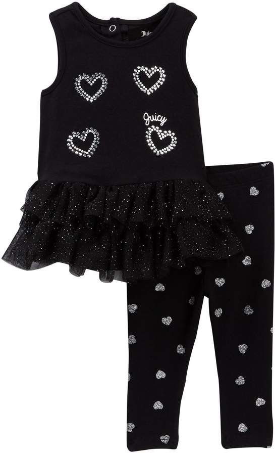 c21e0e6ad Juicy Couture Heart Mesh Bottom Tunic & Glitter Print Legging Set (Baby  Girls 12-24M) #babygirl, #promotion