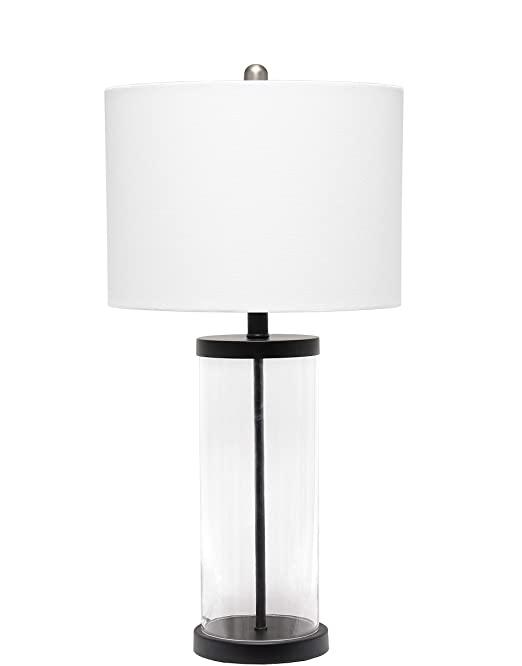 Amazon Com Elegant Designs Lt3323 Blk Enclosed Glass Table Lamp Black Home Improvement Lamp Table Lamp Base Table Lamp