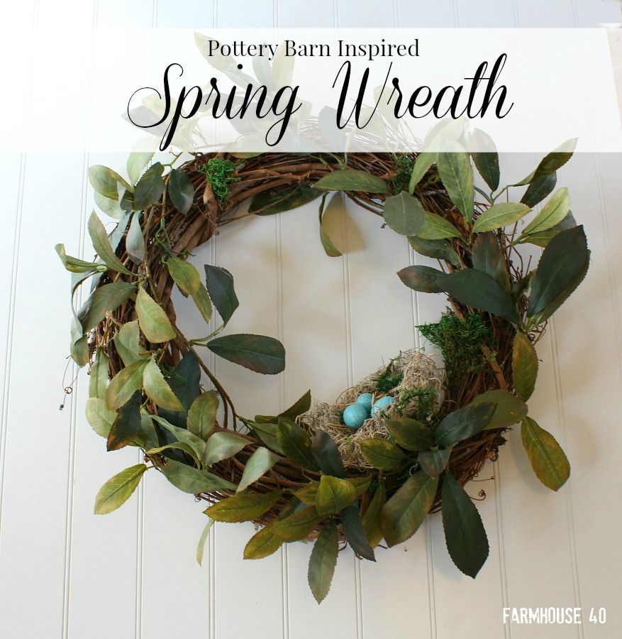 Pottery Barn Inspired Spring Wreath | Magnolia leaves, Magnolia ...